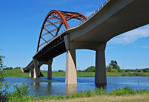 Sauvie Island Bridge (second) from shoreline.jpg
