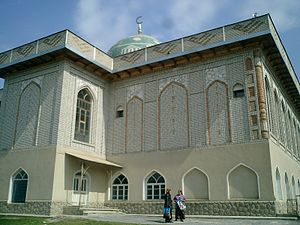 Sayram (city) - Sayram's Friday Mosque, built in the last ten years by donations from foreign philanthropists.