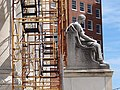 Scaffolding and Statue - New Haven Public Library - New Haven - CT - USA (6947047672).jpg