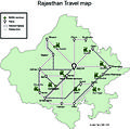 Schematic map of Rajasthan Travel map by Surbhi Tak.jpg