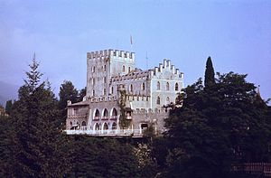 Itter Castle - Itter Castle seen from the southeast, 1979