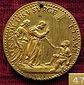 Scuola romana, medaglia di gregorio XIII, 1575, ss. pietro e apolo guariscono paralitico.JPG