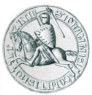 John II, Count of Holstein-Kiel - Seal of John II, dating from the period 1271 to 1302