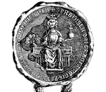 Drawing of Przemysł II's Seal from 19th Century