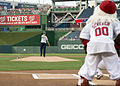 Seaman Ashly Norton throws the ceremonial first pitch 140806-G-CF771-146.jpg