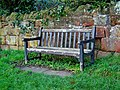 Seat presented in memory of Miss D M Hollis - geograph.org.uk - 1462297.jpg