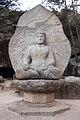 Seated stone statue of Buddha at Samneung-gye Namsan in Gyeongju, Korea 03.jpg