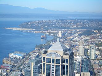 Magnolia, Seattle - Smith Cove and Magnolia seen from Columbia Center