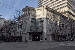Coliseum Theater (Seattle) - The Coliseum Theater on a winter day.