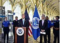Secretary Johnson Participates In Media Availability on Airport Security (29418392152).jpg