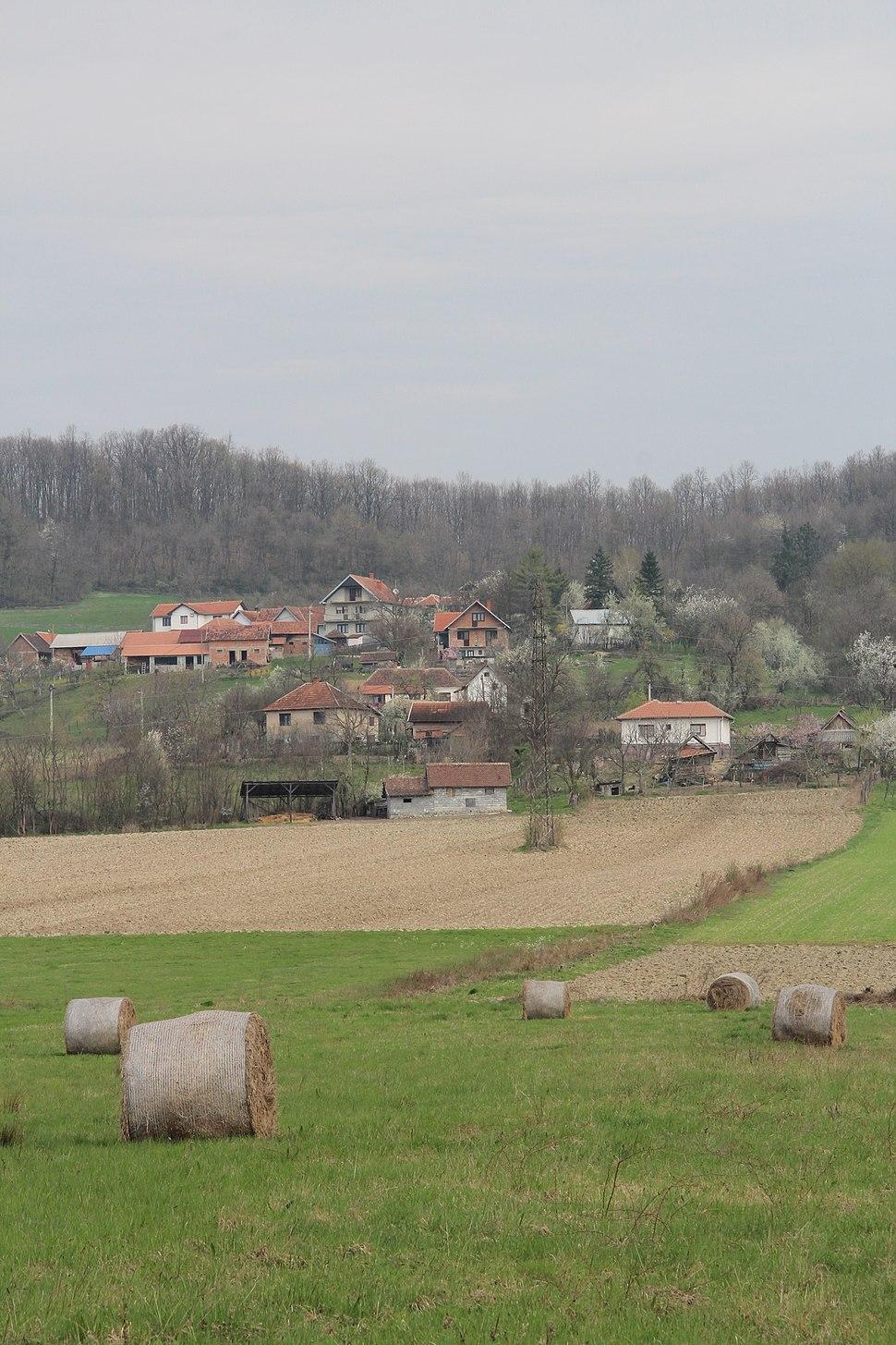 Selo Divci - opština Valjevo - zapadna Srbija - panorama - u pozadini selo Lukavac 3