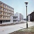 Selyemrét, Selyemrét (Landler Jenő) utca, háttérben a Kőrösi Csoma Sándor utca házai. Fortepan 21138.jpg