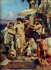 Semiradzki - Phryne on the Poseidon's celebration in Eleusis (fragment).jpg