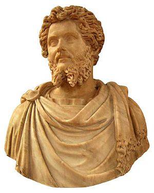 Paludamentum - Bust of Septimius Severus wearing a paludamentum
