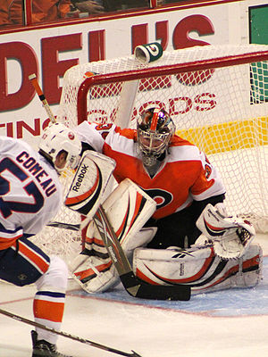 Sergei Bobrovsky - Bobrovsky in goal for the Flyers in 2010