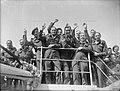 Servicemen's Liner - the British Troopship 'georgic'- Army Transport, Liverpool, Lancashire, England, UK, c July 1945 D25625.jpg