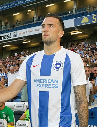 Shane Duffy - Duffy playing for Brighton & Hove Albion in 2018