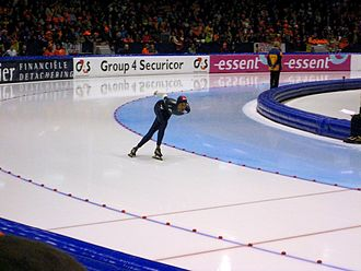 Shani Davis - Davis during the World Cup in Heerenveen in 2007
