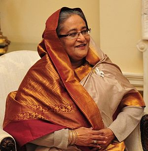 Grand Alliance (Bangladesh) - Sheikh Hasina, current Bangladeshi Prime Minister and Leader of the Bangladesh Awami League and Grand Alliance