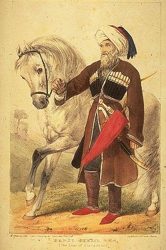 Russo-Circassian War - Kazbech Tuguzhoko, Circassian resistance leader.