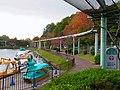Sidewalk and Rail of Sky View Train around Kamiike pond.jpg