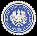 Siegelmarke Chemisches Institut der Universität - Göttingen W0235153.jpg