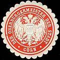 Siegelmarke Der Oberbürgermeister der Stadt Köln W0301686.jpg