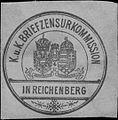 Siegelmarke K.u.K. Briefzensurkommission in Reichenberg W0322952.jpg