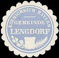 Siegelmarke Koenigreich Bayern Gemeinde Lengdorf W0293230.jpg