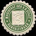 Siegelmarke Magistrat der Königlich Bayrischen Stadt Gundelfingen W0210597.jpg