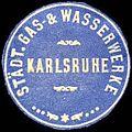 Siegelmarke Städtische Gas - & Wasserwerke - Karlsruhe W0225991.jpg