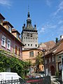 Sighisoara clock tower and town.jpg
