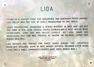 Lida, Nevada - Image: Sign marker, Lida Nevada