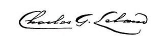 Charles Godfrey Leland - Image: Signature of Charles Godfrey Leland