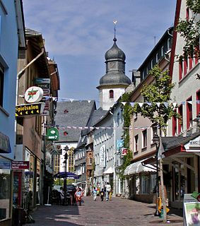 Simmern Place in Rhineland-Palatinate, Germany