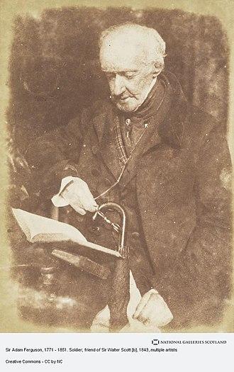 Adam Ferguson (British Army officer) - Image: Sir Adam Ferguson by David Octavius Hill 1833 1847 National Galleries of Scotland