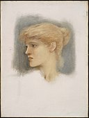 Sir Edward Coley Burne-Jones - Study of a Young Woman's Head - 05.105 - Museum of Fine Arts.jpg
