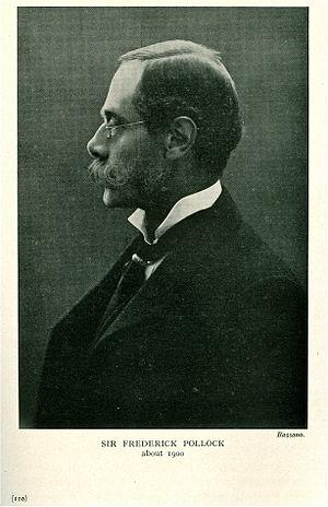 Sir Frederick Pollock, 3rd Baronet - Image: Sir Frederick Pollock, 3rd Baronet