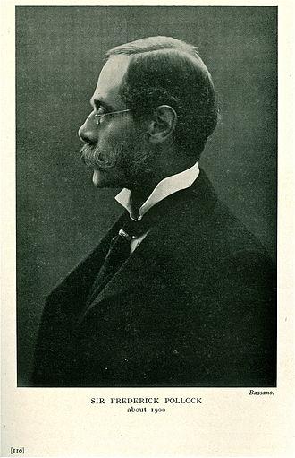 Sir Frederick Pollock, 3rd Baronet - Sir Frederick Pollock (1845–1937)