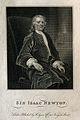 Sir Isaac Newton. Line engraving after J. Vanderbank, 1720. Wellcome V0004268EL.jpg