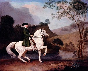Sidney Meadows - Sir Sidney Meadows, by George Stubbs, RA, 1778, 32 x 40 inches, Royal Collection.