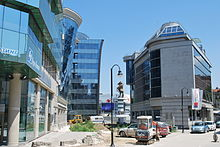 Photographie du quartier des affaires de Skopje