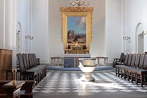 St. Paul's Church, Aarhus - At the altar in St. Paul's Church.