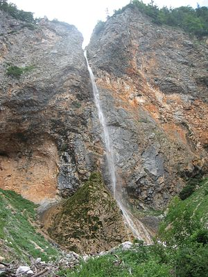 Savinja - Rinka Falls, the source of the Savinja