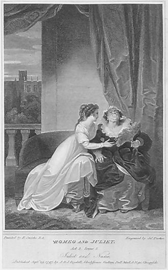 Nurse (Romeo and Juliet) - A 1797 interpretation of Juliet and her Nurse.