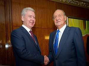 Sergey Sobyanin - Sobyanin and Juan Carlos I of Spain, 19 July 2012