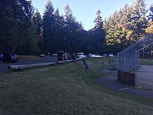 Northacres Park (Seattle) - Parking and play fields at Northacres Park
