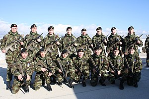 Ireland–NATO relations - Irish Army soldiers as part of Kosovo Force receive the NATO Medal for Kosovo (March 2010)