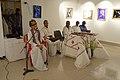 Somendranath Bandyopadhyay Addressing - Biswatosh Sengupta Solo Exhibition Inauguration - Kolkata 2015-07-28 3293.JPG