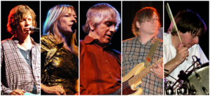 Final lineup of the band before their 2011 breakup; from left to right: Thurston Moore, Kim Gordon, Lee Ranaldo, Mark Ibold, Steve Shelley